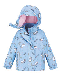 Light Blue Unicorn Infant's Raincoat