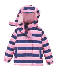 Pink Stripe Infant's Raincoat