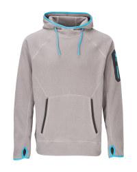 Men's Grey & Blue Workwear Hoody