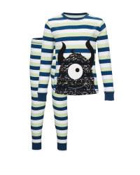 Children's Stripe Monster Pyjamas