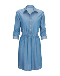 Ladies' Light Blue Denim Dress