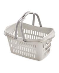 Cool Grey Grid Walls Shopping Basket