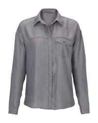 Avenue Ladies' Grey Denim Blouse