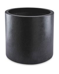 Black Round Terrazzo Plant Pot