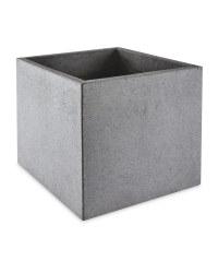 Grey Square Terrazzo Plant Pot