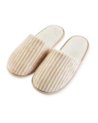 Ladies' Beige Super Soft Slippers