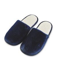 Ladies' Blue Super Soft Slippers