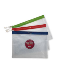 A4 Plus Mesh Bag 3 Pack
