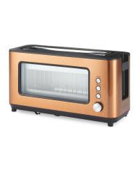 Ambiano Glass Toaster - Copper