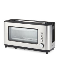 Ambiano Glass Toaster - Stainless Steel