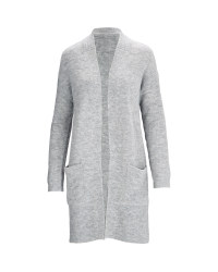 Avenue Ladies' Longline Cardigan - Grey