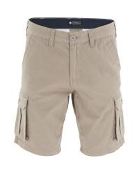 Avenue Men's Beige Cargo Shorts