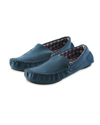Avenue Men's Moccasin Slipper - Navy