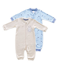 Baby Bear Sleepsuit 2 Pack