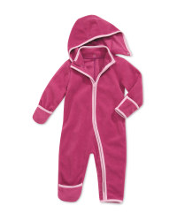 Baby Fleece All-In-One - Fuchsia