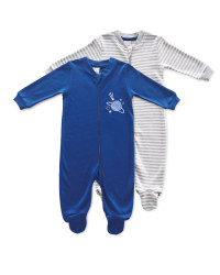 Baby Planets Sleepsuit 2 Pack