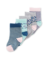 Leopard Baby Socks 5 Pack