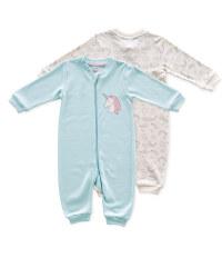 Baby Unicorn Sleepsuit 2 Pack