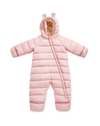 Baby Winter Overall - Rose