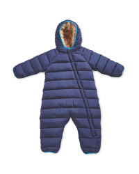Baby Winter Overall Cuff - Navy
