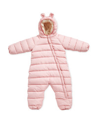 Baby Winter Overall Cuff - Rose