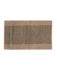 Beige/Brown Stripes Washable Mat