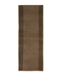 Beige/Brown Stripes Washable Runner