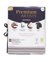 Black A4 Ringbound Sketchbook 2 Pack