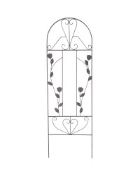 Black Roses Iron Decorative Trellis