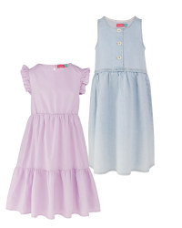 Blue & Lilac Summer Dresses 2 Pack