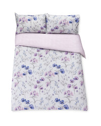 Blue Floral Double Duvet Set