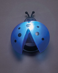 Blue Solar Ladybird Light