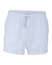 Ladies' Stripe Linen/Cotton Shorts