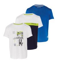 Boy's Shirt White & Blue 3 Pack