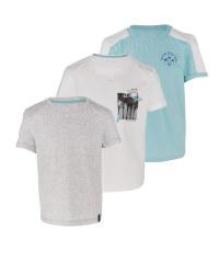 Boy's Shirt White & Grey 3 Pack