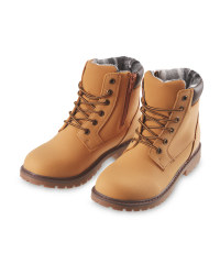 Boy's Tan Winter Boots