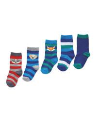 Boys 1 Socks 5 Pack