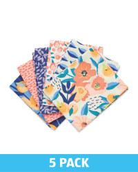 Bright Floral Fabric Fat Quarters
