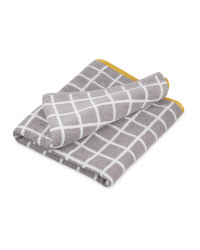 Check Grey Bath Sheet
