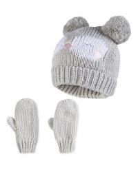 Children's Owl Hat/Gloves