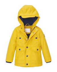 Lily & Dan Infant's Yellow/Navy Coat