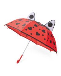 Children's 3D Ladybug Umbrella
