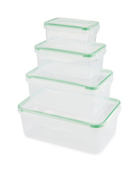 Christmas Clip Lid Storage Rectangle - Green