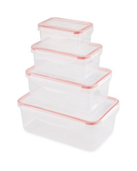 Christmas Clip Lid Storage Rectangle - Red