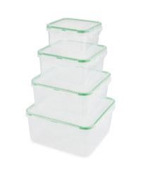 Christmas Clip Lid Storage Square - Green