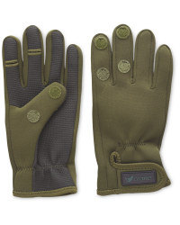 Crane Two Fold Green Fishing Gloves