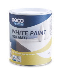 Deco Style White Silk Matt Paint