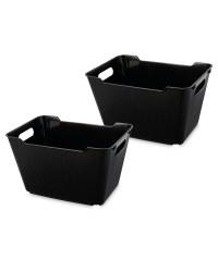Design Living Boxes 12L 2 Pack - Black
