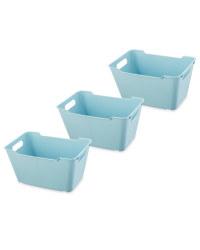 Design Living Boxes 6L 3 Pack - Blue