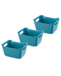 Design Living Boxes 6L 3 Pack - Grey